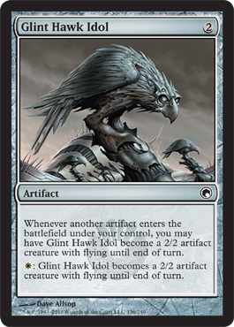 Glint Hawk Idol | Magic: The Gathering Card