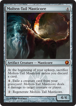 Molten-Tail Masticore | Magic: The Gathering Card