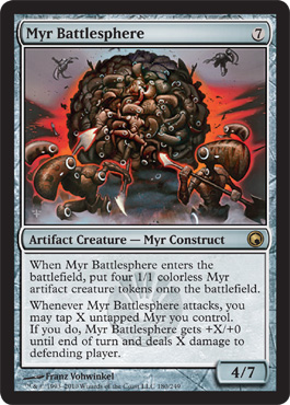 Myr Battlesphere | Magic: The Gathering Card