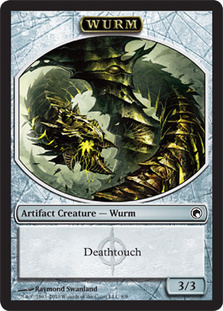 Wurm Token (Deathtouch) | Magic: The Gathering Card
