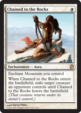 Chained to the Rocks | Magic: The Gathering Card