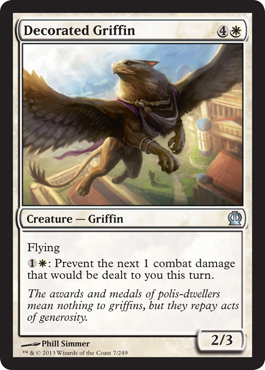 Decorated Griffin | Magic: The Gathering Card