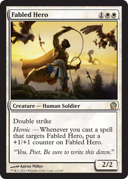 Fabled Hero | Magic: The Gathering Card