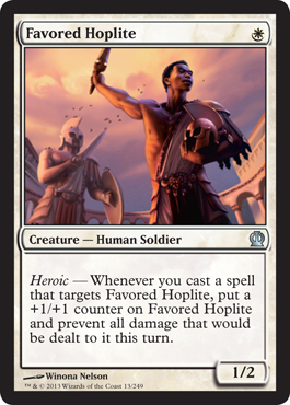 Favored Hoplite | Magic: The Gathering Card