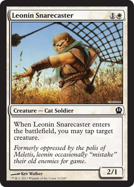 Leonin Snarecaster | Magic: The Gathering Card