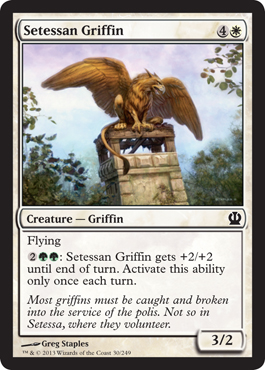 Setessan Griffin | Theros | Magic: The Gathering at ... Planeswalker Activated Ability