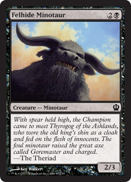 Felhide Minotaur | Magic: The Gathering Card