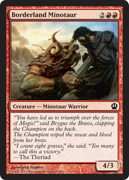 Borderland Minotaur | Magic: The Gathering Card