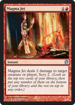 Magma Jet | Magic: The Gathering Card