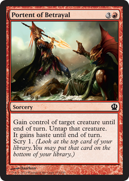 Portent of betrayal theros magic the gathering at for Portent magic