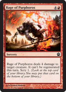 Rage of Purphoros | Magic: The Gathering Card