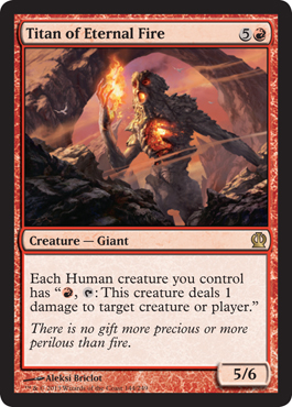 Titan of Eternal Fire | Magic: The Gathering Card