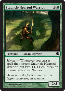 Staunch-Hearted Warrior | Magic: The Gathering Card