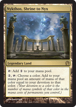 Nykthos, Shrine to Nyx | Magic: The Gathering Card
