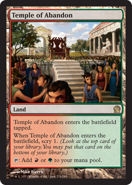 Temple of Abandon | Magic: The Gathering Card