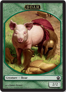Boar Token | Magic: The Gathering Card