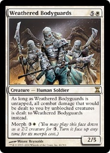 Weathered Bodyguards | Magic: The Gathering Card