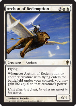 Archon of Redemption | Magic: The Gathering Card