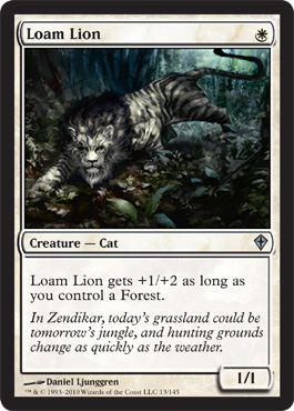 Loam Lion | Magic: The Gathering Card