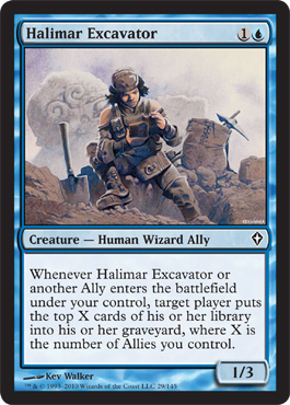 Halimar Excavator | Magic: The Gathering Card