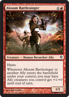 Akoum Battlesinger | Magic: The Gathering Card