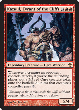 Kazuul, Tyrant of the Cliffs | Magic: The Gathering Card