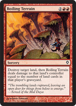 Roiling Terrain | Magic: The Gathering Card