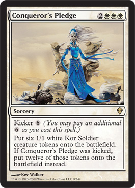 Conqueror's Pledge | Magic: The Gathering Card