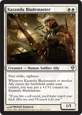 Kazandu Blademaster | Magic: The Gathering Card