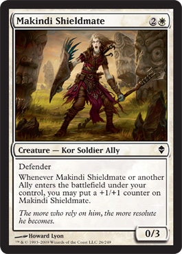 Makindi Shieldmate | Magic: The Gathering Card