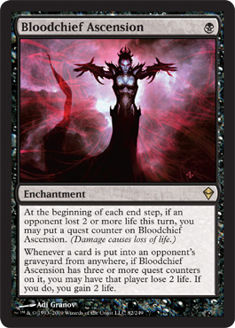 Bloodchief Ascension | Magic: The Gathering Card