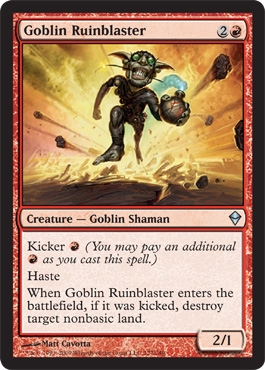 Goblin Ruinblaster | Magic: The Gathering Card