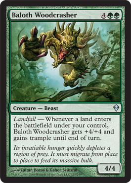Baloth Woodcrasher | Magic: The Gathering Card