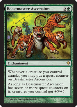 Beastmaster Ascension | Magic: The Gathering Card