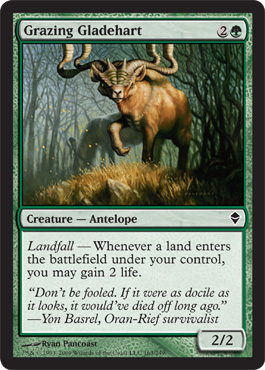Grazing Gladehart | Magic: The Gathering Card
