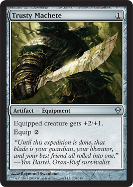 Trusty Machete | Magic: The Gathering Card