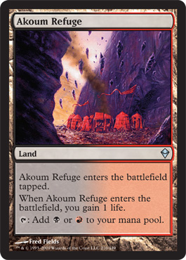 Akoum Refuge | Magic: The Gathering Card