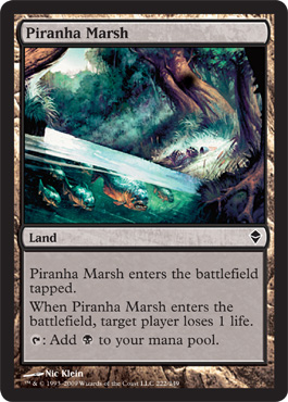 Piranha Marsh | Magic: The Gathering Card