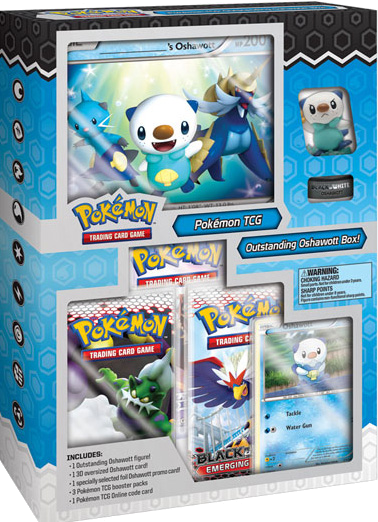 Black And White Outstanding Oshawott Starter Figure Box