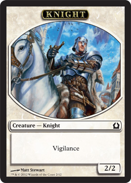 Knight Token | Magic: The Gathering Card