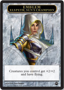 Emblem - Elspeth, Sun's Champion | Magic: The Gathering Card